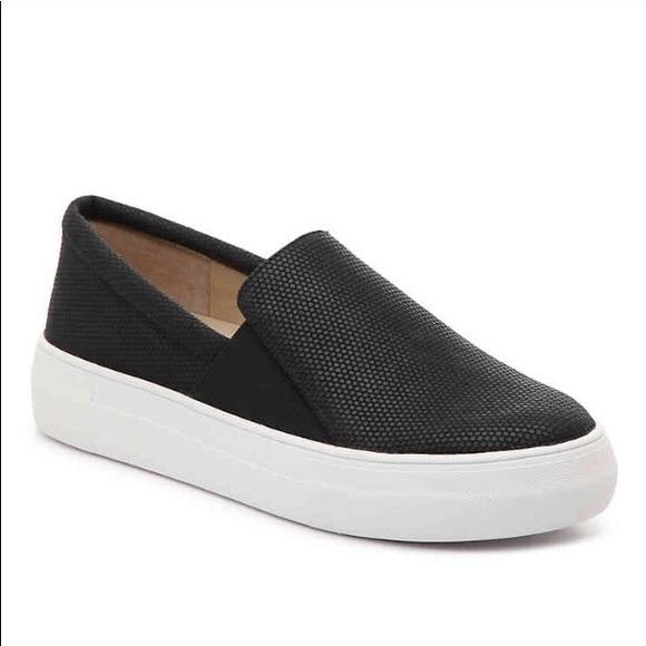 vince camuto black slip on sneakers